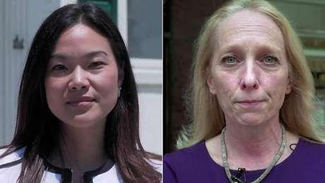 Em lados opostos no espectro político, a republicana Pearl Kim e a democrata Mary Gay Scanlon se dizem estimuladas pelo movimento #MeToo