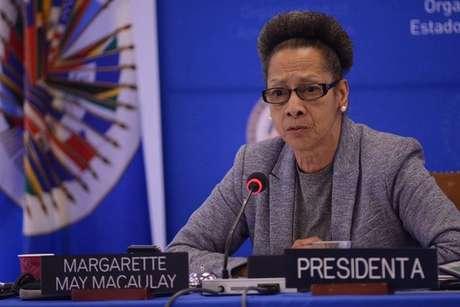 A presidente da CIDH, órgão de direitos humanos da Organização dos Estados Americanos (OEA), Margarette May Macaulay.