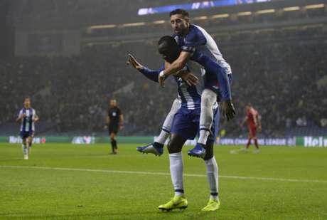 Dupla Marega e Herrera garantiu vitória ao Porto na Liga dos Campeões (Foto: AFP)