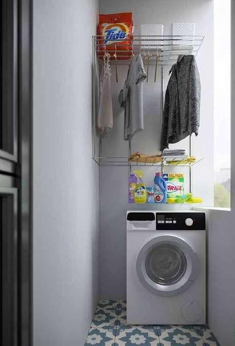 4. O aramado na lavanderia é sinal de ambiente mais funcional – Foto: Pinterest
