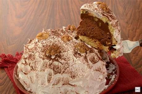 Bolo-sorvete de panetone