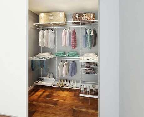 19. Uma das principais vantagens do closet aramado é quanto sua ventilação – Foto: Pinterest
