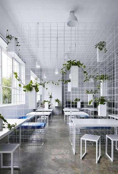 22. O aramado é muito utilizado na decoração de ambientes com estilo moderno e industrial – Foto: ArchDaily