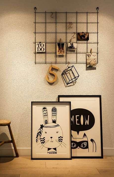 25. Modelo simples de painel aramado – Foto: Pinterest