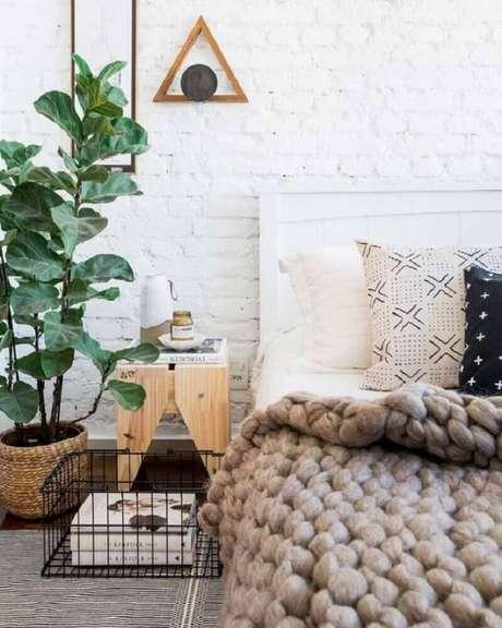 34. Itens em aramado também são ótimo para decorar ambientes com estilo escandinavo – Foto: Srta. Galante