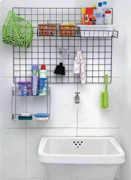 55. Misture modelos diferentes de aramados para compor a decoração e organização dos ambientes – Foto: Pinterest