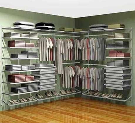 57. Modelo de closet aramado – Foto: Pinterest
