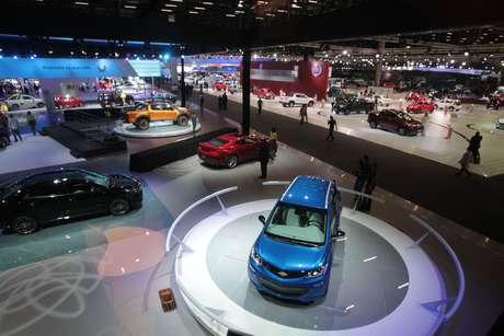 Vista geral do Salão do Automóvel de São Paulo 2016, no São Paulo Expo, na Zona Sul da cidade de São Paulo (08/11/2016)