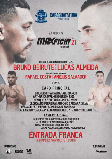 Max Fight será realizado no dia 1º de dezembro, em Caraguatatubas,(Foto: Divulgação)