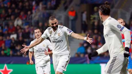Benzema celebrates one of its goals (Photo: Divulgação / Real Madrid)
