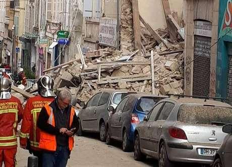 Edifícios desmoronam no centro de Marselha, na França