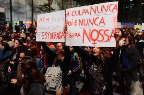 Ato Por Todas Elas contra o estupro, em São Paulo