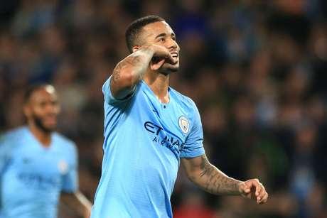 Gabriel Jesus marcou três gols na goleada do Manchester City