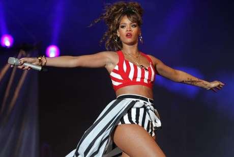 Show da Cantora Rihanna no palco Mundo, durante o Rock in Rio 2011, na Cidade do Rock, em Jacarepaguá, zona oeste do Rio de Janeiro.