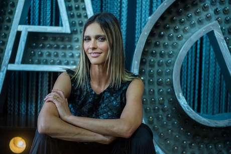 Fernanda Lima no cenário do programa 'Amor & Sexo', da TV Globo