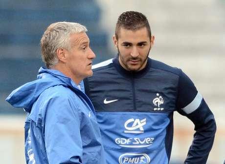 Benzema não atua mais pela seleção francesa (foto:FRANCK FIFE / AFP)