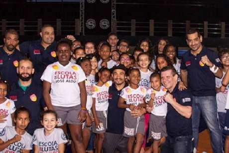 Escola de Luta de José Aldo é um sucesso no Morro Azul, no bairro do Flamengo, no Rio (Foto Serginho Bittencourt)