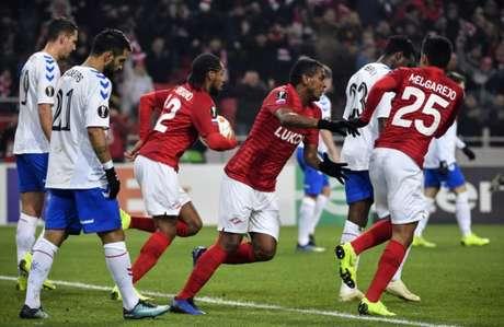 Spartak conseguiu a primeira vitória na competição (Foto: AFP)