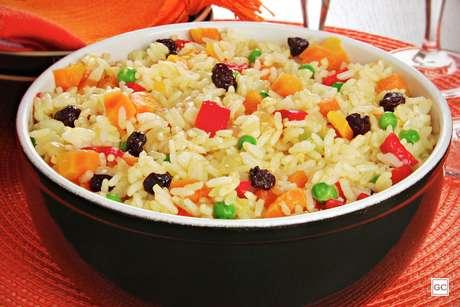 arroz à grega na pressão