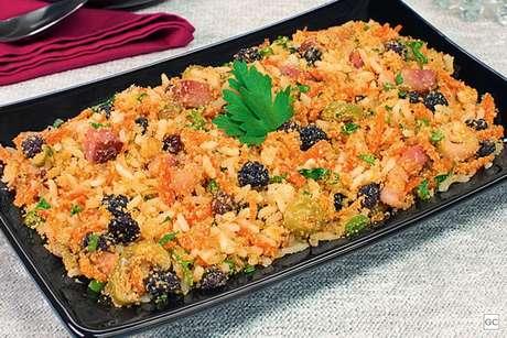 farofa de arroz prática