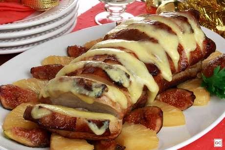 Lombo com queijo natalino