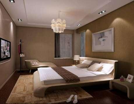 26. Linda e moderna luminária de teto par quarto