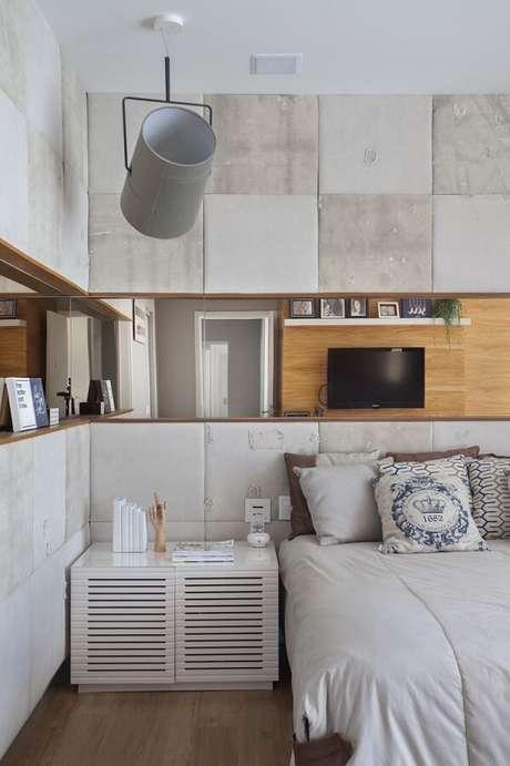 60. Luminária de teto diferente para decoração de quarto – Foto: Nagoia Construtora