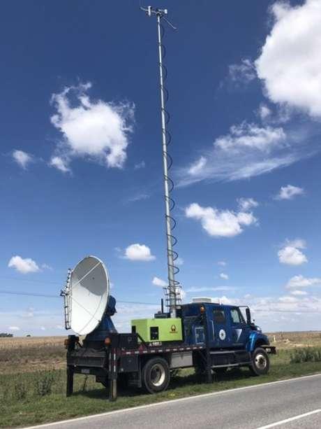 Um dos caminhões Doppler on Wheels que a equipe do projeto usa para analisar as tempestades