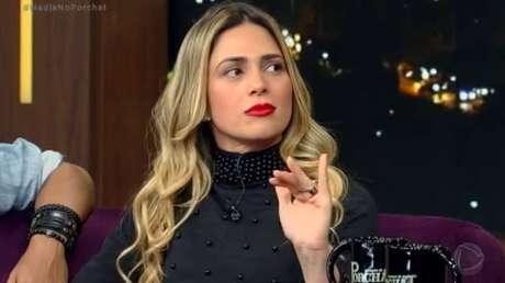 Nadja Pessoa, participante expulsa de reality show'A Fazenda' 2018, na Record TV.