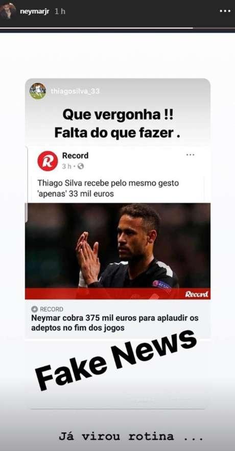 Neymar diz que não é pago para aplaudir torcedores