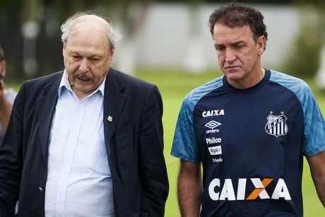 Presidente e treinador tiveram uma conversa a sós na última quinta-feira, no CT Rei Pelé (Foto: Ivan Storti/Santos)