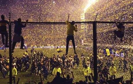 Boca Juniors e River Plate se enfrentam na final da Copa Libertadores de 2018 (Foto: Reprodução)
