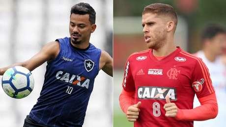 Lindoso e Cuéllar são destaques de Botafogo e Flamengo na temporada (Divulgação)