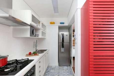 5. Piso hidráulico para cozinha pequena