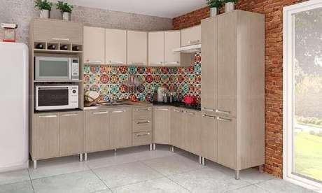 25. Decoração com ladrilhos para cozinha simples