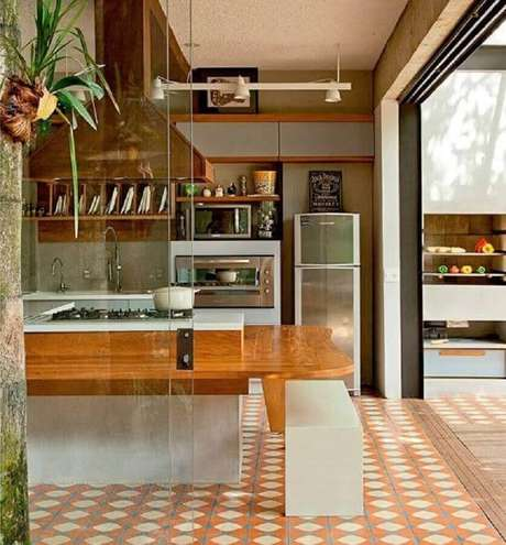 31. Piso hidráulico para decoração de cozinha