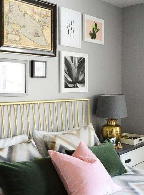 20- Na decoração os quadros para quarto têm vários formatos e tamanhos. Fonte: Pinterest