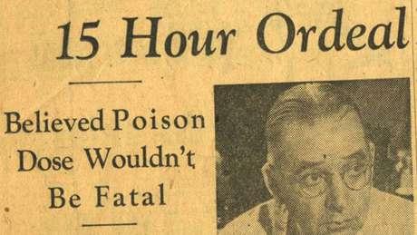 Jornal publicou que, para Schmidt, veneno não seria fatal. Mas há quem aponte outra hipótese para ele não ter procurado atendimento
