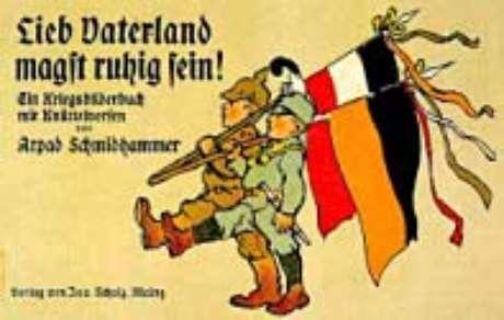 Cartaz celebrando a aliança austro-alemã
