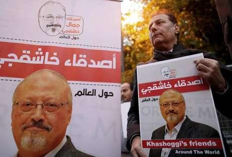 Protesto contra a morte do jornalista Jamal Khashoggi