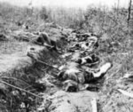 Mortos nas trincheiras, as ruínas de uma civilização