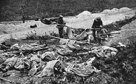 O canhão e suas vítimas