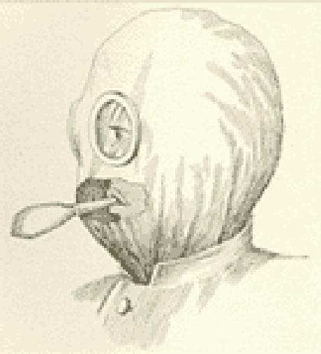 Primitiva máscara antigás