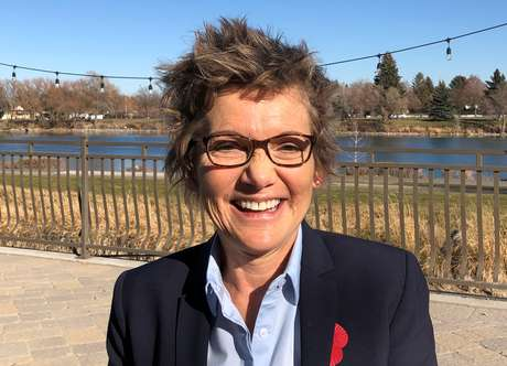 Mary Daly, presidente do Federal Reserve de San Francisco, após coletiva de imprensa no Estado de Idaho 12/11/2018 REUTERS/Ann Saphir