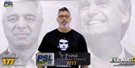 O ator Alexandre Frota foi eleito deputado federal pelo PSL de São Paulo