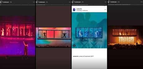 Nos stories do Instagram, Lorde comparou os placos.