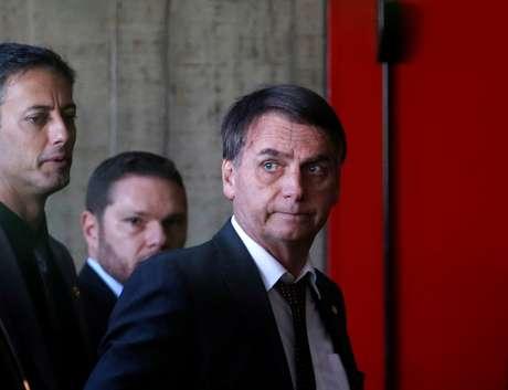 Presidente eleito Jair Bolsonaro ao chegar para reunião em Brasília 13/11/2018 REUTERS/Adriano Machado