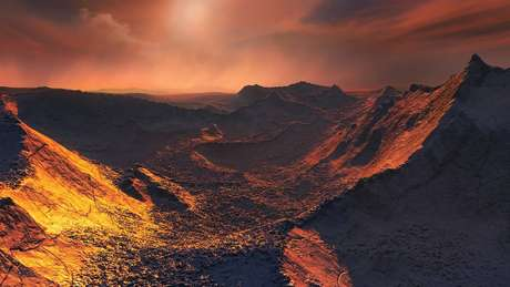 O exoplaneta provavelmente é congelado e muito pouco iluminado – recebe de sua estrela apenas 2% da luz que a Terra recebe do Sol