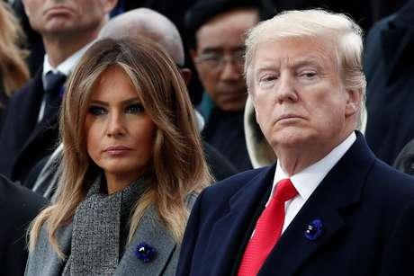 Presidente dos Estados Unidos, Donald Trump, e primeira-dama, Melania Trump, em Paris 11/11/2018 REUTERS/Benoit Tessier