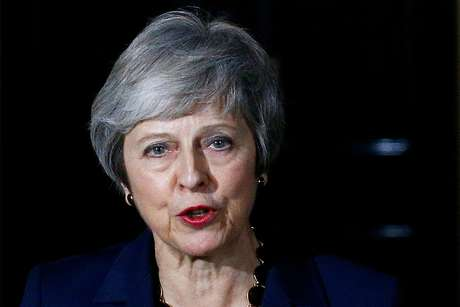 Theresa May faz declaração em Londres  14/11/2018    REUTERS/Henry Nicholls
